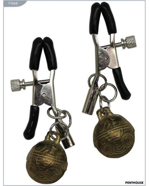 P3068 Зажимы для сосков с колокольчиками, регулируемые, 31 г