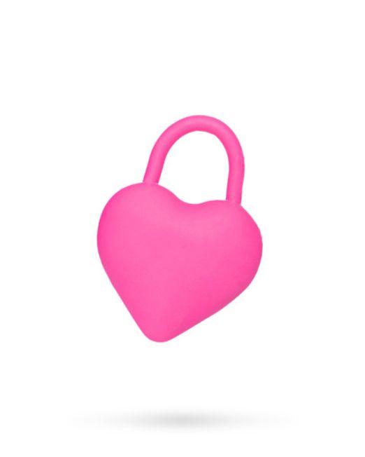 Вибромассажер в форме сердца для пар, розовый