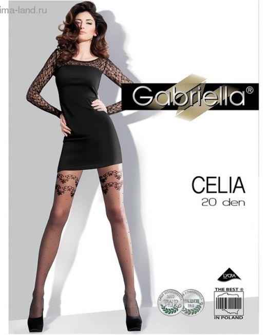 38-1001485 КОЛГОТКИ GABRIELLA CELIA  20 den, цвет черный, разм. 2 арт. 1001485.jpg