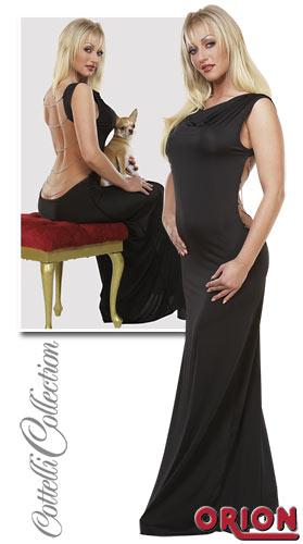 3-2710498-1020 Платье с открытой спиной и цепочками черное-S арт. 2710498-1020.jpg