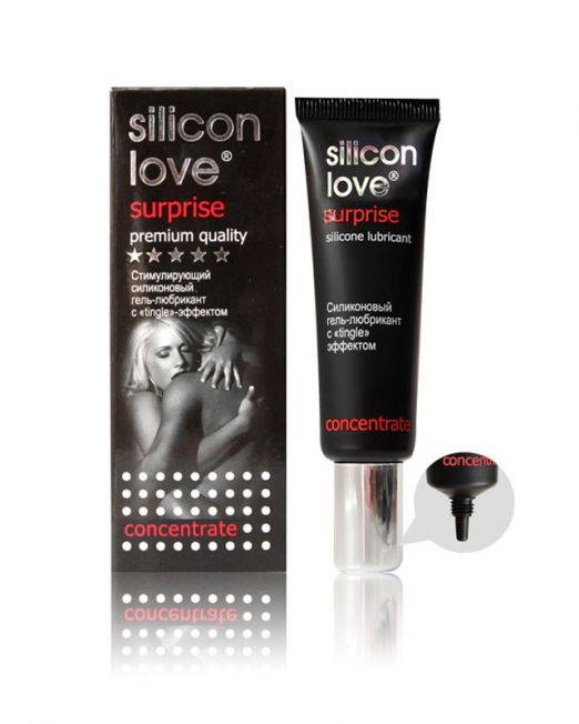 13-LB-21002 ГЕЛЬ - ЛЮБРИКАН SILICON LOVE SURPRISE 30г, силиконовый с tingle эффектом арт. LB-21002.j
