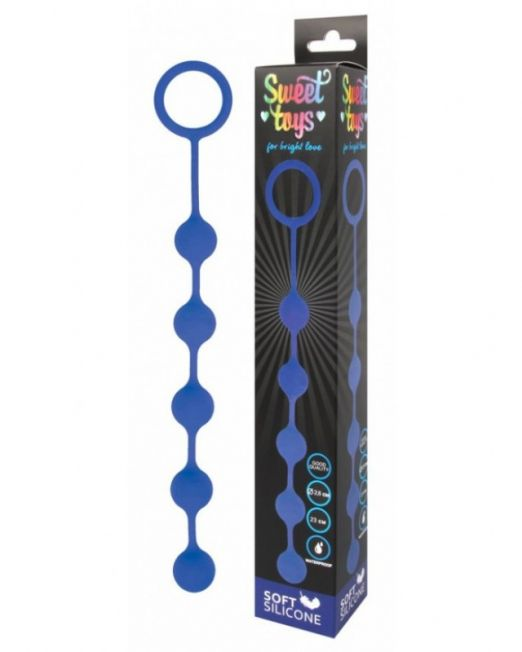 ЦЕПОЧКА АНАЛЬНАЯ L 250 мм D 31 мм, с металлическими шариками, цвет синий арт. ST-40181-2