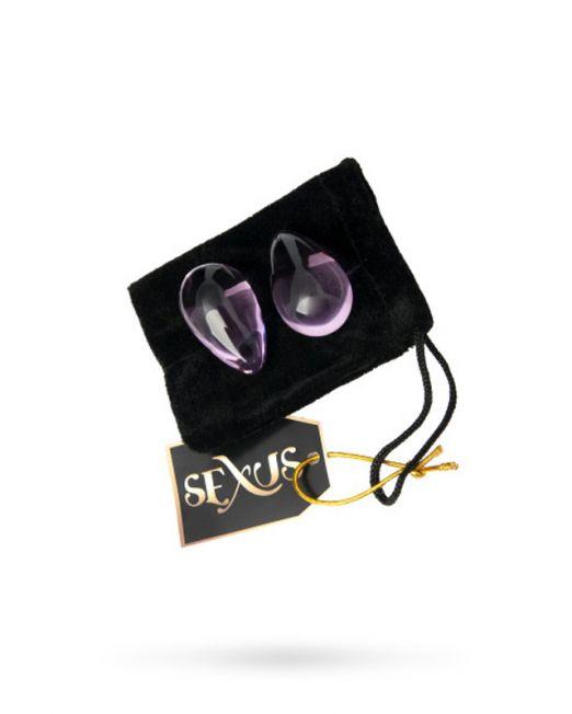 Вагинальные шарики Sexus Glass из стекла в элегантной форме капельки для тренировки вагинальных мышц