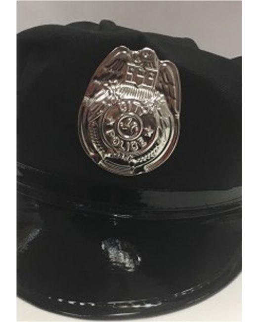 Фуражка полицейского черная (One Size)