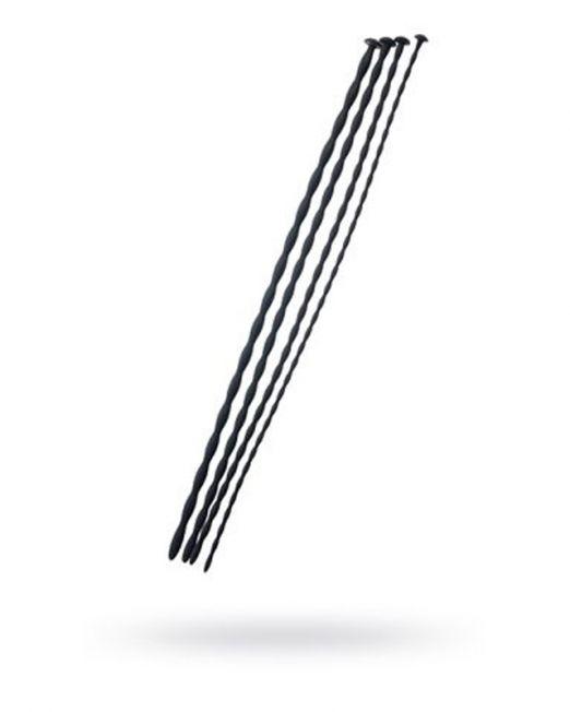 Набор уретральных зондов Black & Red by TOYFA, 4 штуки, чёрный
