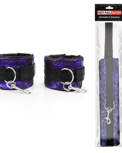 НАРУЧНИКИ цвет чёрный/фиолетовый арт. NTB-80584