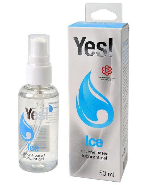 """ГЕЛЬ-СМАЗКА СИЛИКОНОВЫЙ """"YES ICE"""" с маслами мяты, шалфея и розмарина, 50 мл, арт. 4703"""