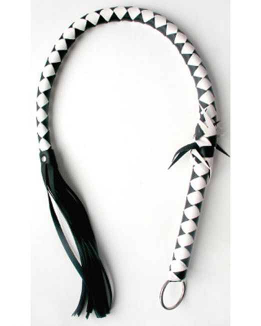 ПЛЕТКА цвет черный/белый, (PVC) арт. MLF-90074