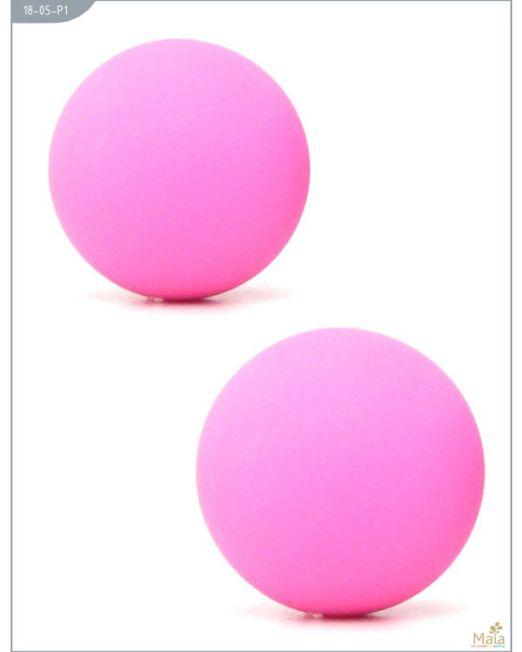 18-05-P1 Тренажер Кегеля, металлические с силиконовым покрытием, розовые, 20 мм