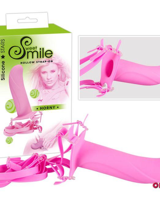 SMILE Страпон Horny розовый