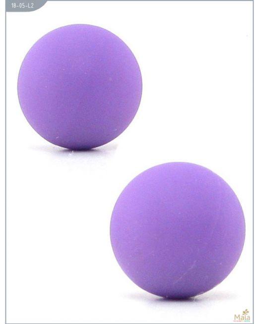 18-05-L2 Тренажер Кегеля, металлические с силиконовым покрытием, фиолетовые, 20 мм