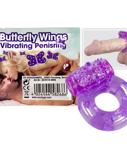 Виброкольцо для пениса Butterfly Wings