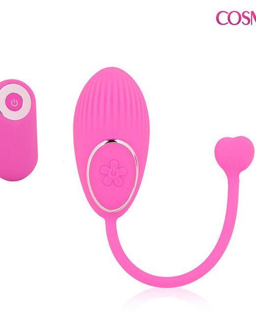 ВИБРОЯЙЦО 10 режимов вибрации, L 73 мм D 35 мм цвет розовый арт. CSM-23143