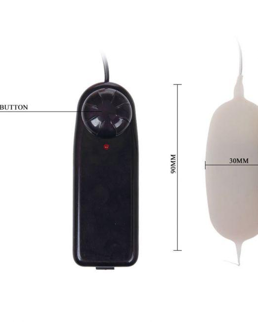 ВИБРОЯЙЦО L 90 мм D 30 мм арт. BI-014027