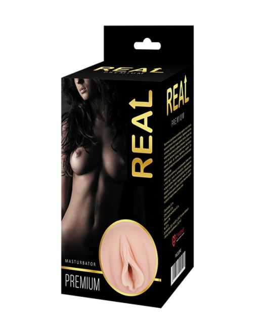 Реалистичный односторонний мастурбатор Real  Women Dual Layer с двойной структурой 15,5х8,2 см