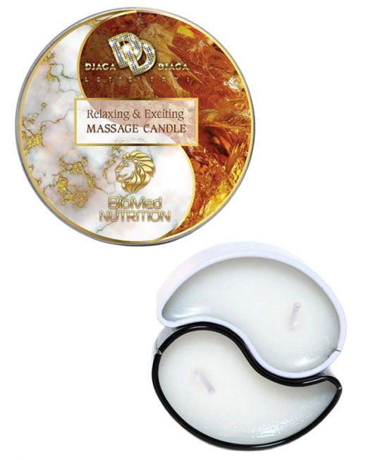 Массажная свеча Relaxing & Exciting Massage Candle «Янтарное утро», 2х15 мл