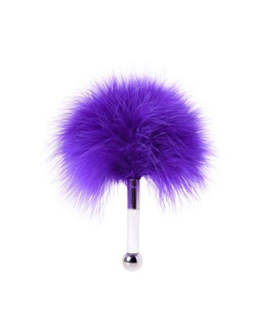 Щекоталка TOYFA Theatre, пластик, перо, фиолетовая