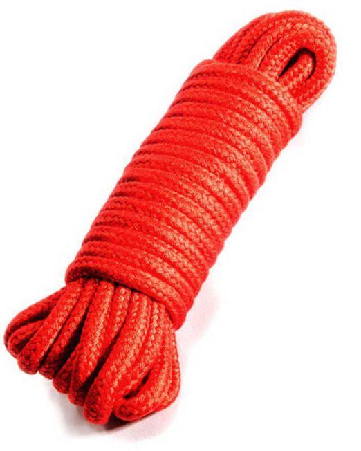 Верёвка для бондажа и декоративной вязки, красная, 10 м, P3379R