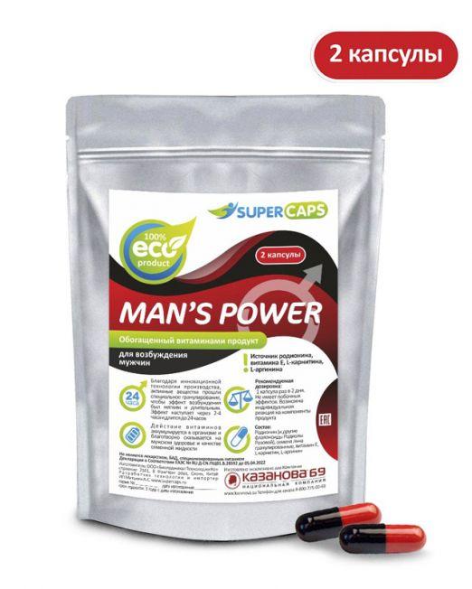 Средство возбуждающее с L-carnitin Man'sPower 2 капсулы